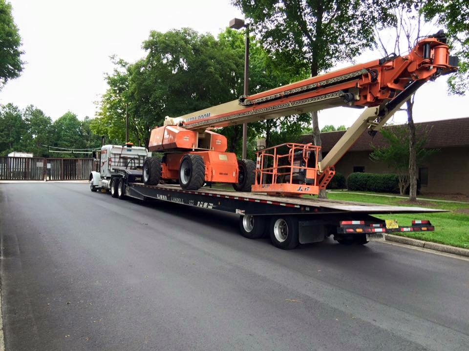 equipment transport towing