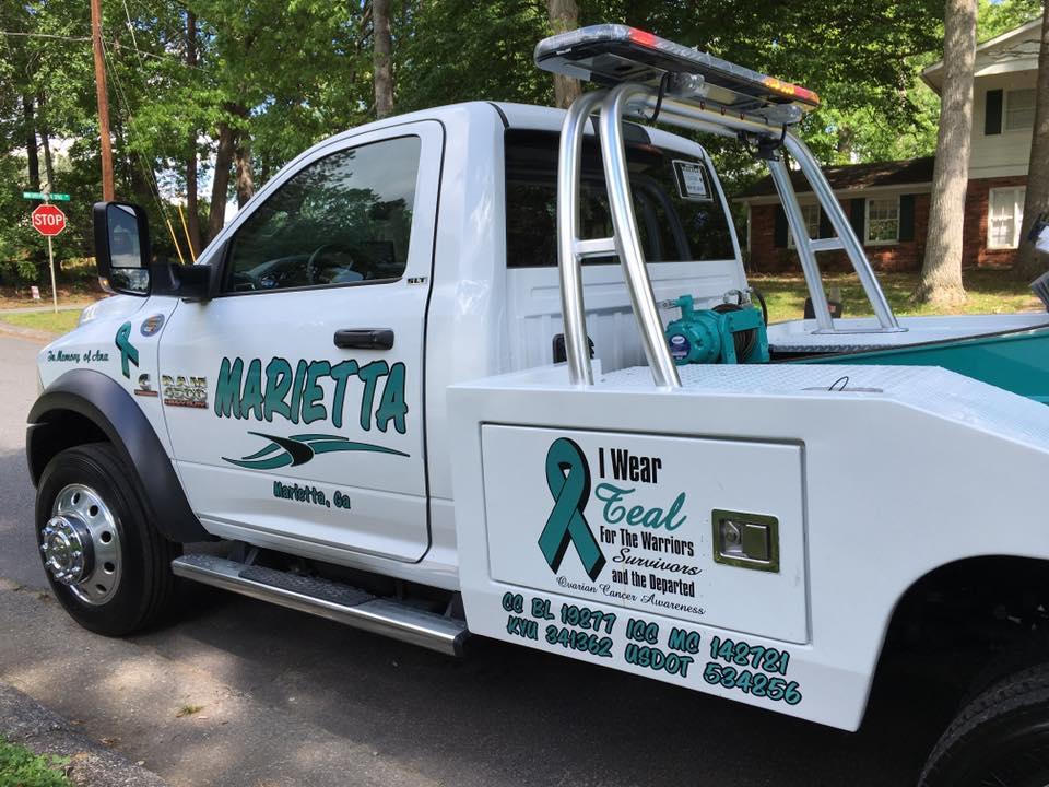 ovarian cancer truck   ovarian cancer awareness