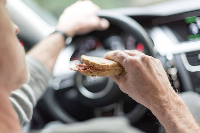 Eating Distracted Driving | Marietta Wrecker Service