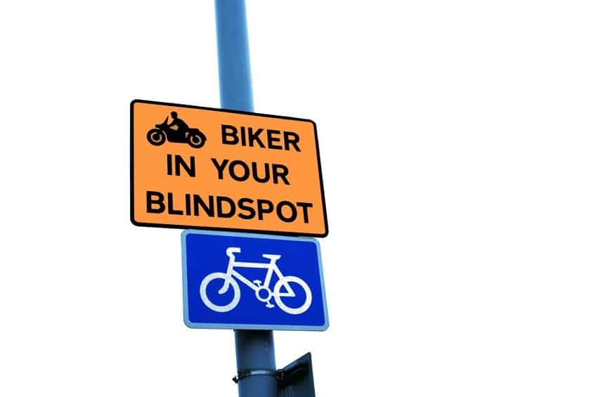 Biker in Your Blindspot Sign | Marietta Wrecker Service