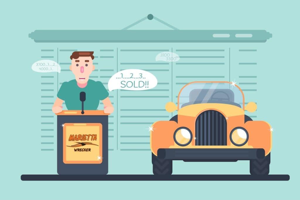Monthly Auto Auction | Marietta Wrecker Service