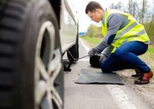 Changing A Flat Tire | Marietta Wrecker Service
