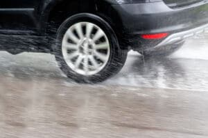 Wet Surfaces Cause Hydroplaning | Marietta Wrecker